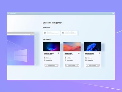 Windows 365 dashboard icons icon figma ui design product design product design ui copy recreation rebuild dashboard new virtual os virtual machine windows 365 365 windows