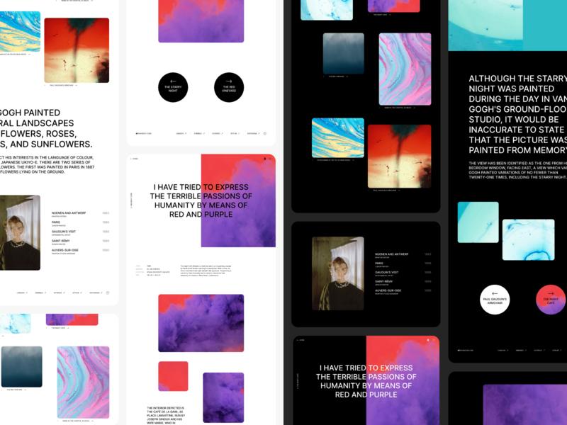 Visual portfolio template (Figma file) interface art responsive visual download mockup template figma website design ux portfolio website ui