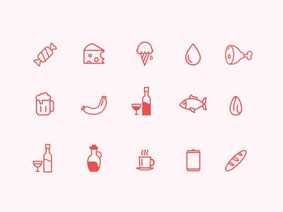 Food Icon Set food set icon