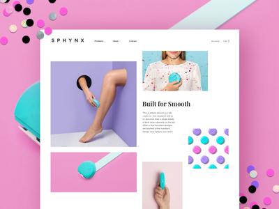 Sphynx Razor - UI interface gallery ui website color