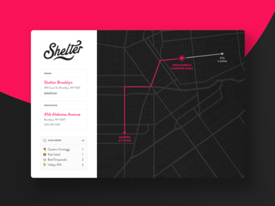 Daily UI Challenge #020 — Location Tracking