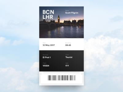 Daily UI Challenge #024 — Boarding Pass