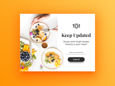 Daily UI Challenge #026 — Subscribe ux ui newsletter email dailyui daily challenge subscribe 026