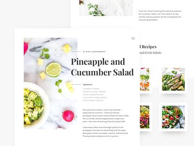 Daily UI Challenge #040 — Recipe food 040 web recipe challenge daily dailyui product ui ux web design 40