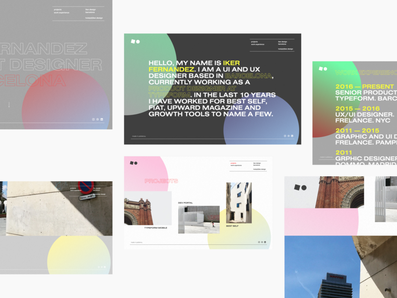 Personal Site 2019 Concept photograhy color ux css real project outline ui website