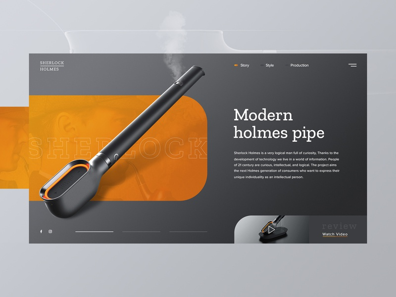 Modern Holmes pipe