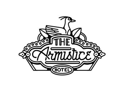 Armistice music typography illustration