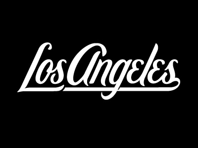 La La typography script black and white lettering