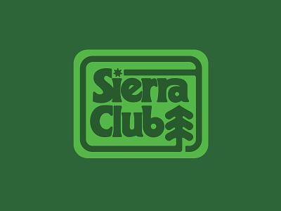 Sierra Club patch badge typography