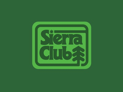 Sierra Club patch badge typography