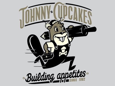 Johnny Cupcakes illustrations vector typography animals beavers