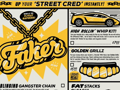 How To Be A Gangster illustration typography gangster rap mail order vintage