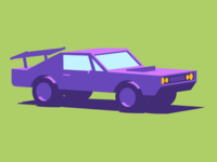 Tazweed Mobile App Illustration - Muscle Car
