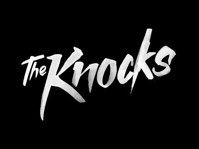 Band logo - The Knocks logo band music design ink sketch paint raw the knocks hand drawn