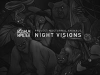 Nocturnal Animals Artwork visual album joshua walter nocturnal animals illustration logo drawing black music album cd