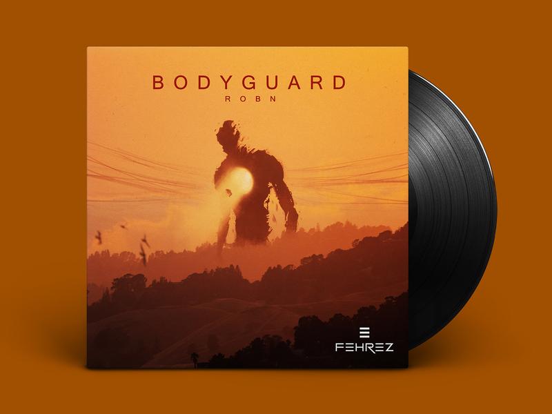 """""""Bodyguard"""" Album Cover landscape texture concept cover design cover art mock up vinyl box design character clean album art minimalistic concept art illustration art cover cover artwork design"""