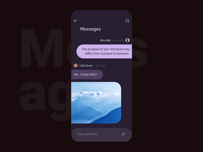 Messages   Daily UI