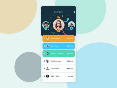 Leaderboard | Daily UI app dailyui daily leaderboard board leader uidesign ios sketchapp ui sketch