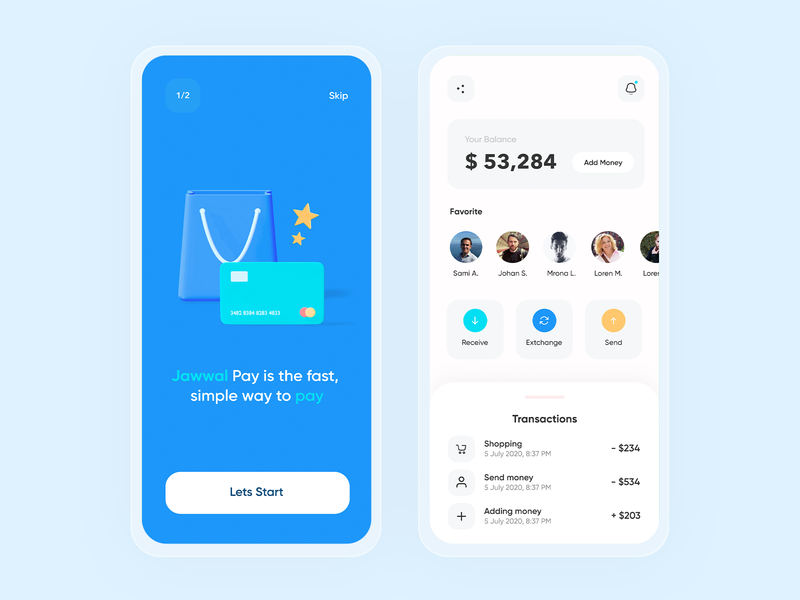 Jawwal pay wallet pay payment gif art graphic design graphic icons figma sketch graphics landing ios design app website ux ui