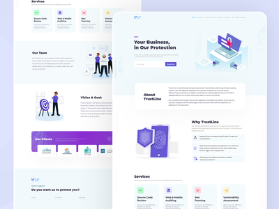 Landing page for cyber security motion graphics graphic design security cyber one page landing page branding logo ux illustration graphics website ui ios app design