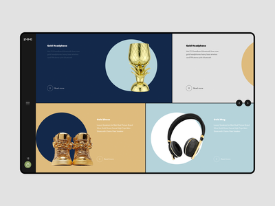 Gold Store movie icons interface typography branding logo ghassan hani cuberto dribbble landing sketch graphics website ios design app ux ui