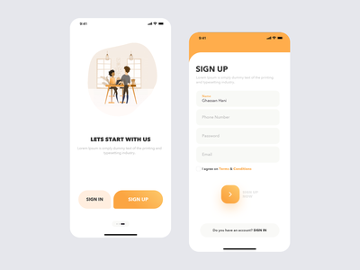 Coffeesum mobile responsive onboarding ui signup signin login dribbble cuberto landing illustration sketch interface icons graphics website ios design app ux ui