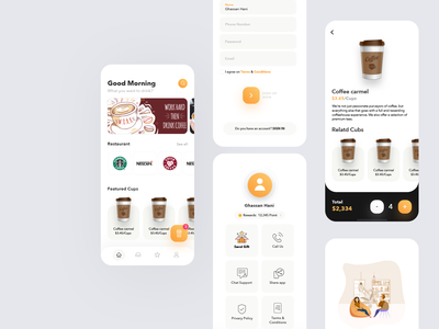 Coffeesum App movie web mobile service responsive dribbble cuberto landing illustration sketch interface icons logo graphics website ios design app ux ui