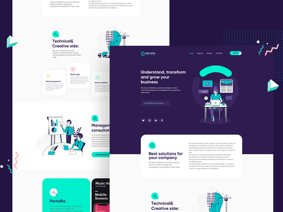 OraNow Agency landing illustration sketch interface icons graphics ui ios website design app ux