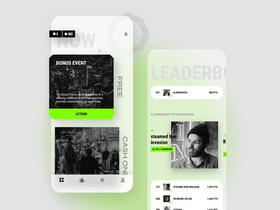 Event Gamification App app mobile app design concept product design ios uidesign ui mobile