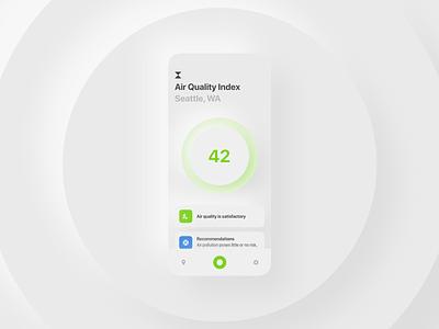 Air Quality Index App mobile ui product design mobile app design concept app ui uidesign mobile