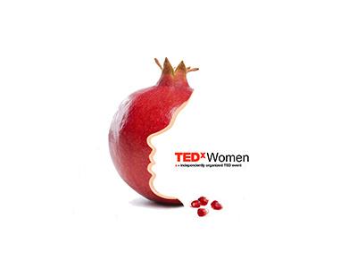 TEDx Women event logo image curator pomegranate design event logo tedxwomen tedx ted
