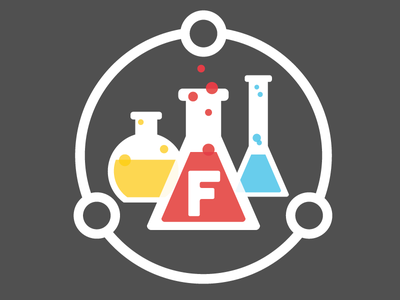 Flavorus Labs Logo logo branding design illustration science