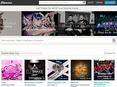 New Flavorsu Home Page ui responsive website web design product