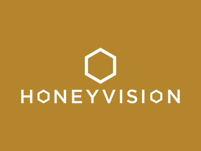 HoneyVision Logo logo branding gold