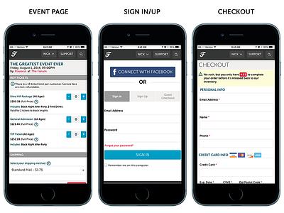 Flavorus Mobile Purchase Update mobile ux design