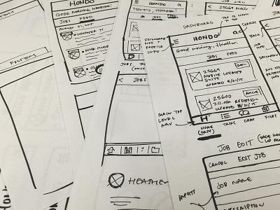 Hondo Mobile App Sketch sharpie sketch process mobile app