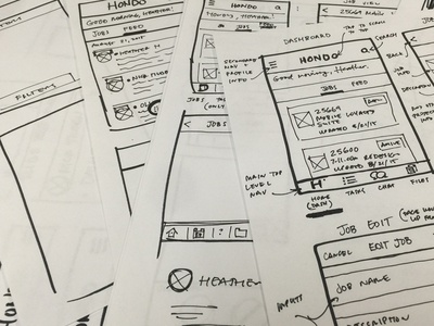 Hondo Mobile App Sketch
