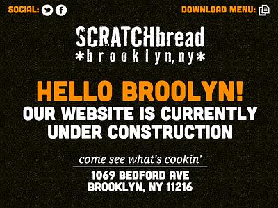 SCRATCHbread Landing Page web design texture type design webdesign