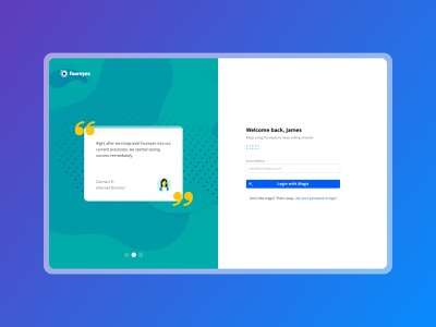 Foureyes :: Login Pages authentication forgot password sign in sign up form minimalist gradient minimal