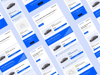 Foureyes :: Inventory Emails automotive inventory ui  ux minimalist minimal monochrome ui email design email