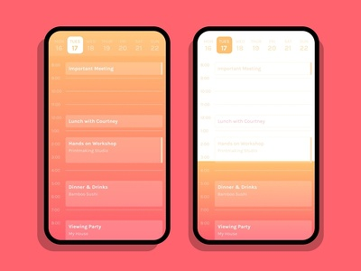 Daily UI 071 :: Schedule