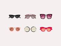 illustrated sunglasses