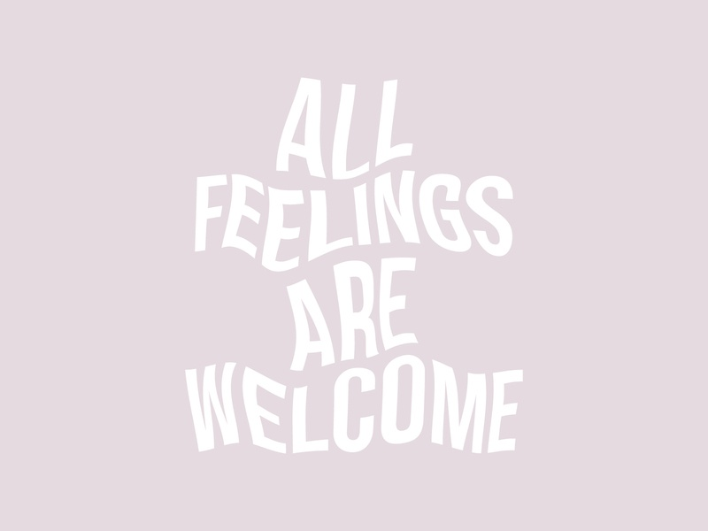 All feelings are welcome glitch art glitch letters lettering type art typography type artwork illustration vector design