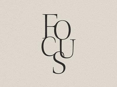 Focus type design typedesign illustration typography design vector type art type