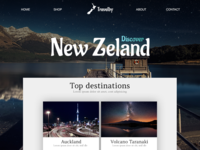 New Zeland interaction intarface ux ui iphone mobile design ios screen mockup website web