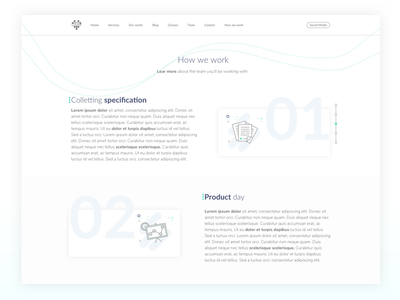 How We Work Subpage interaction intarface ux ui iphone mobile design ios screen mockup website web