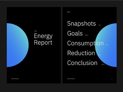Energy Report for IBM illustraor annual report annualreport report typography carbon10 ibmenergy ibm