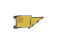 Wichita Pennant Enamel Pin