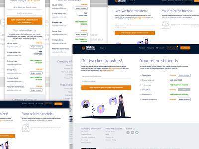 Nobel Financial Refferal Page financial reffer a friend invite form form web design white design website simple minimal ux uiux ui invite refferal product design webdesign web