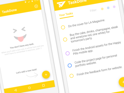 TaskDone - Main Screen